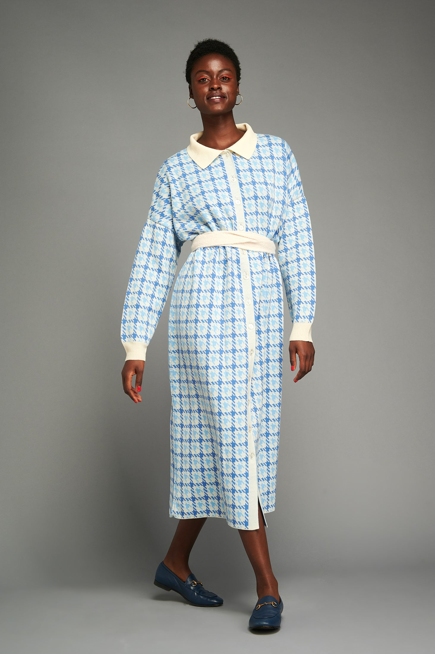 Fikiri Shirtdress (Baby Blue)