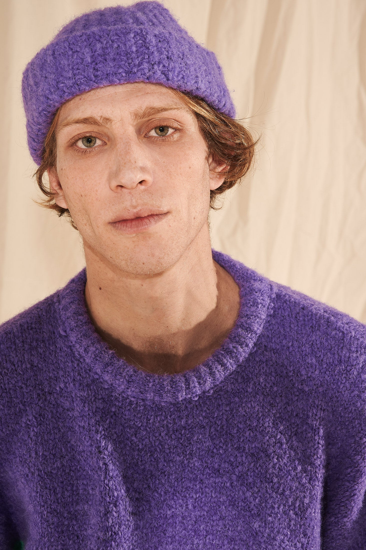 Fisherman Beanie Hat (Purple)