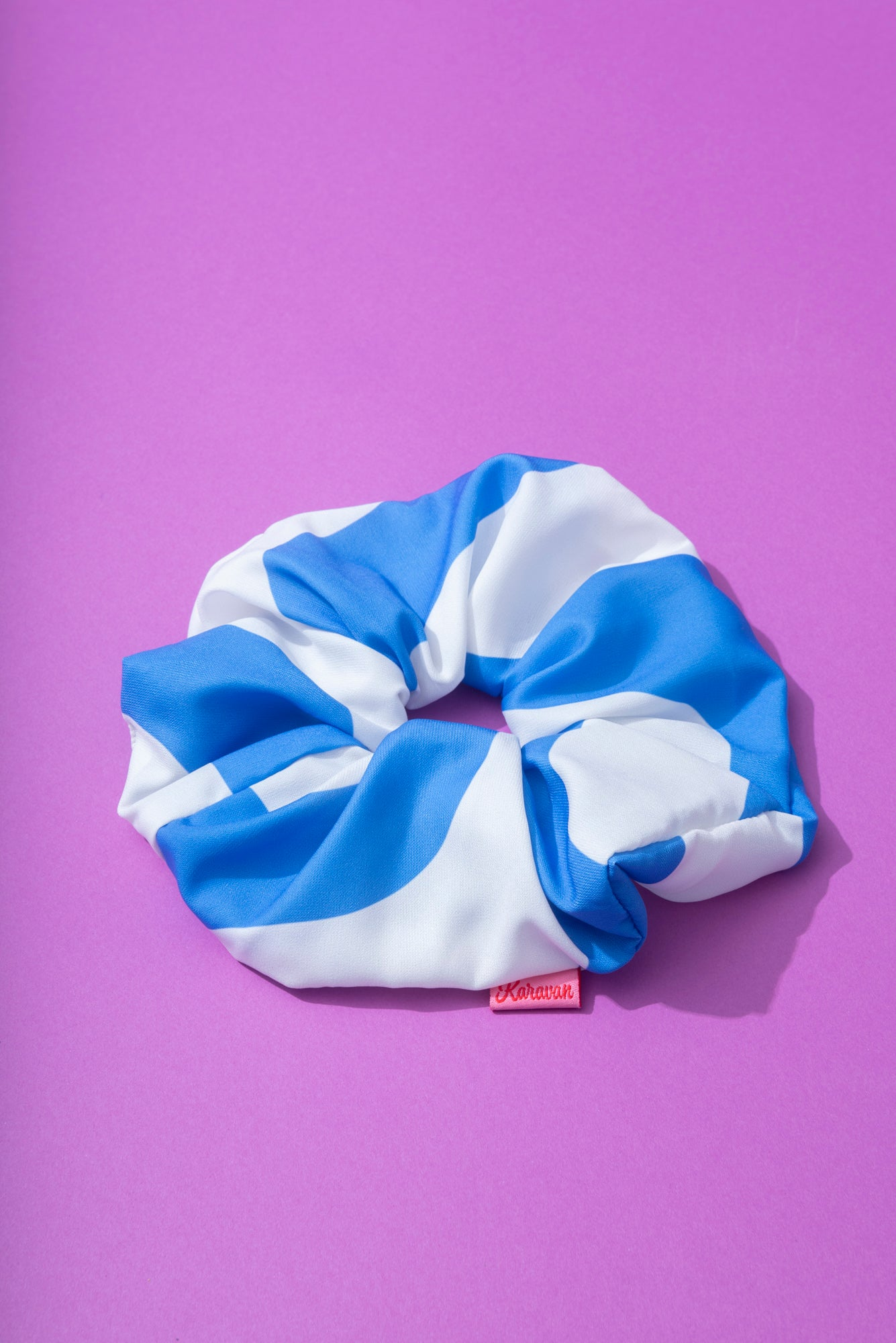 Tribe Scrunchie (White/Blue)