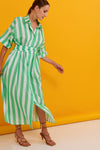 Anthony Shirtdress (Green)