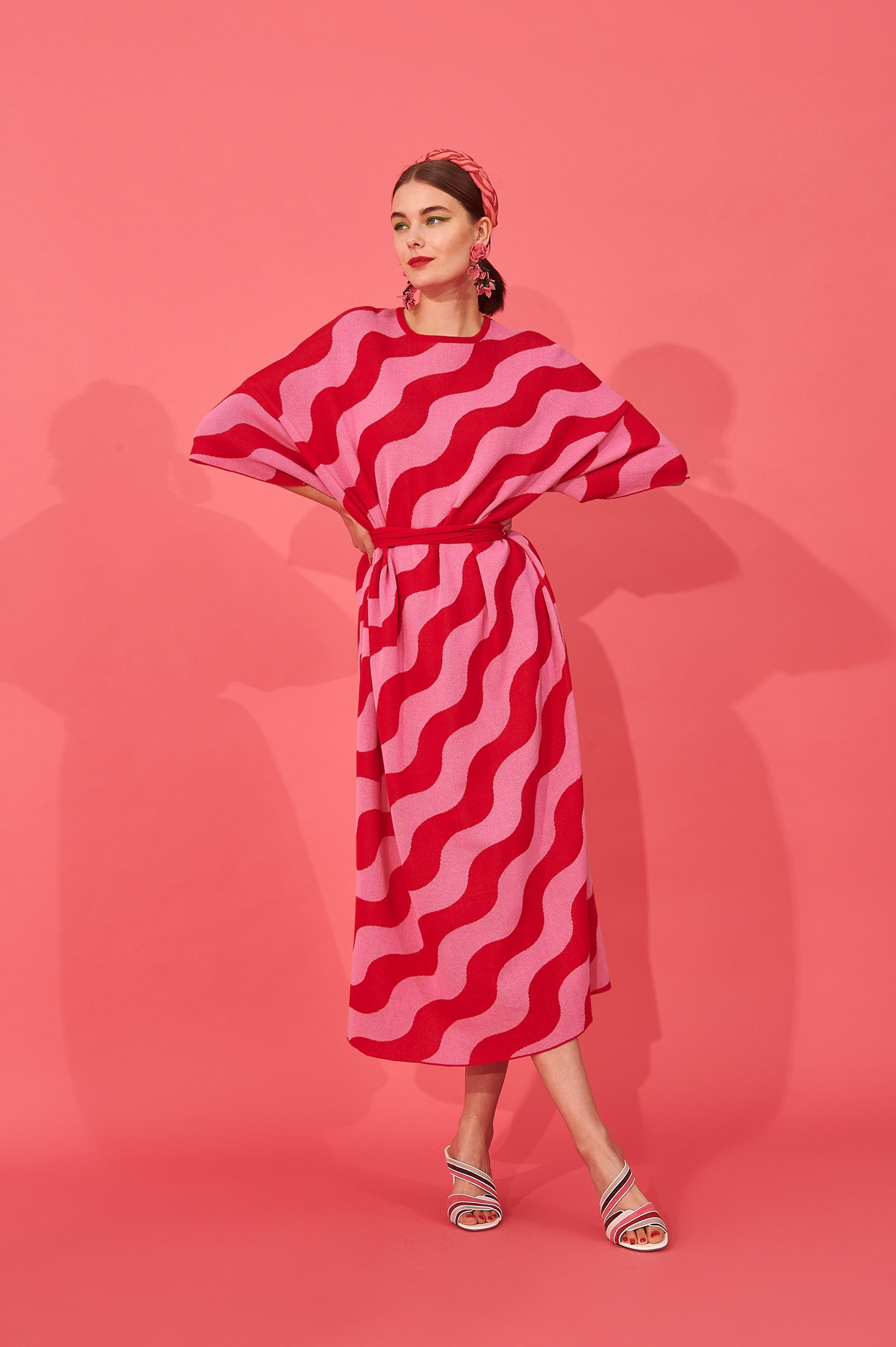 Sayoko Dress (Curly Pink)