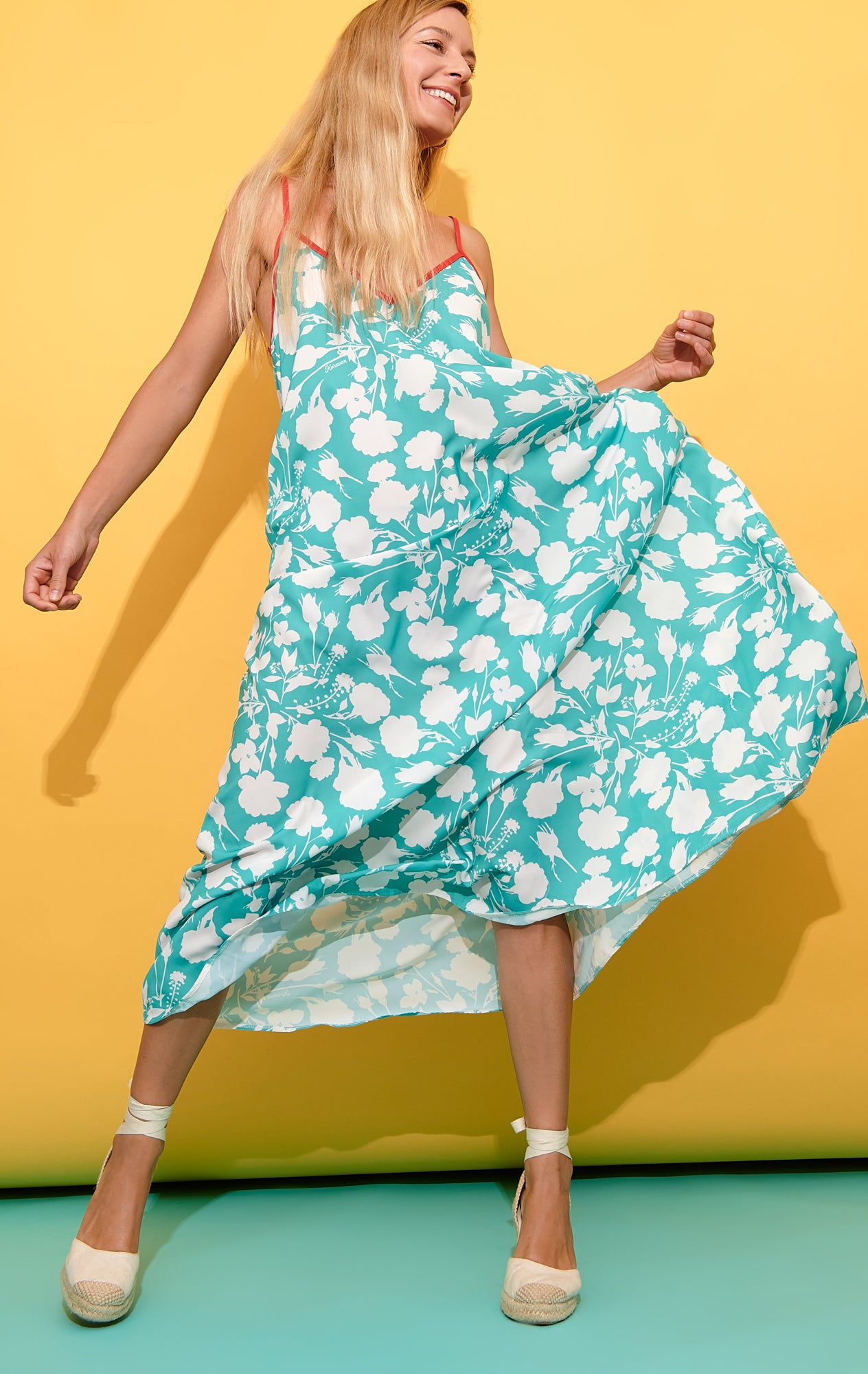 Tati Dress (Flowers Mint)