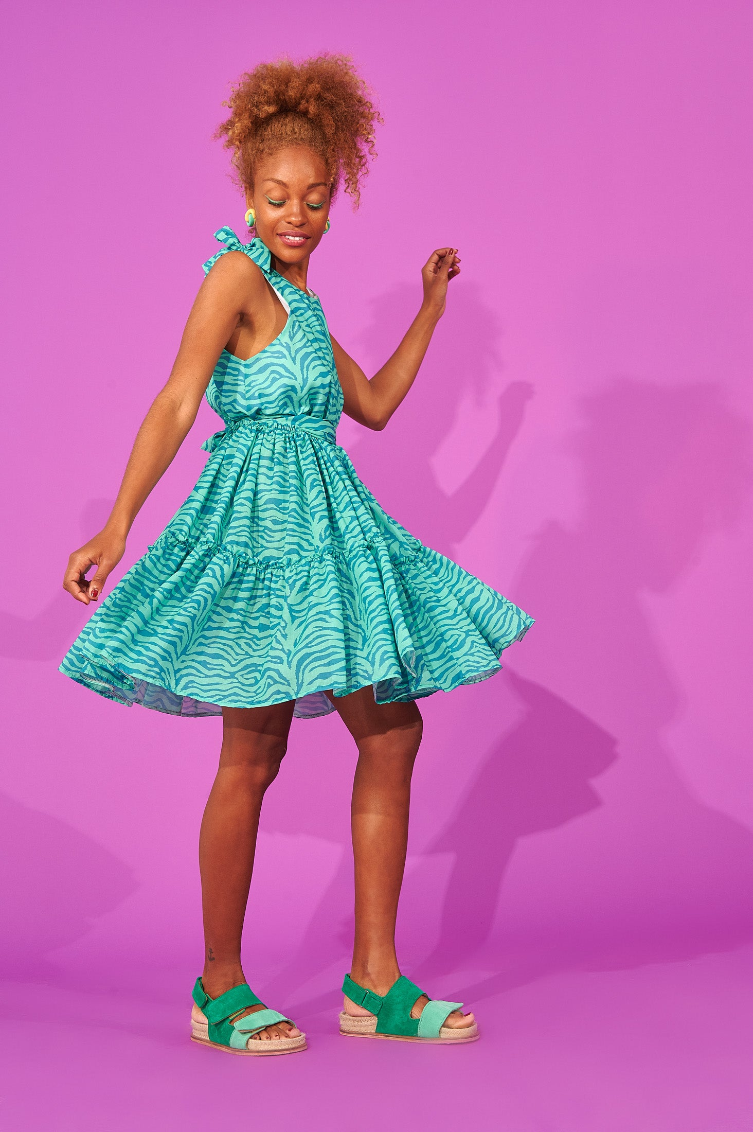 Reiko Dress (Mint)