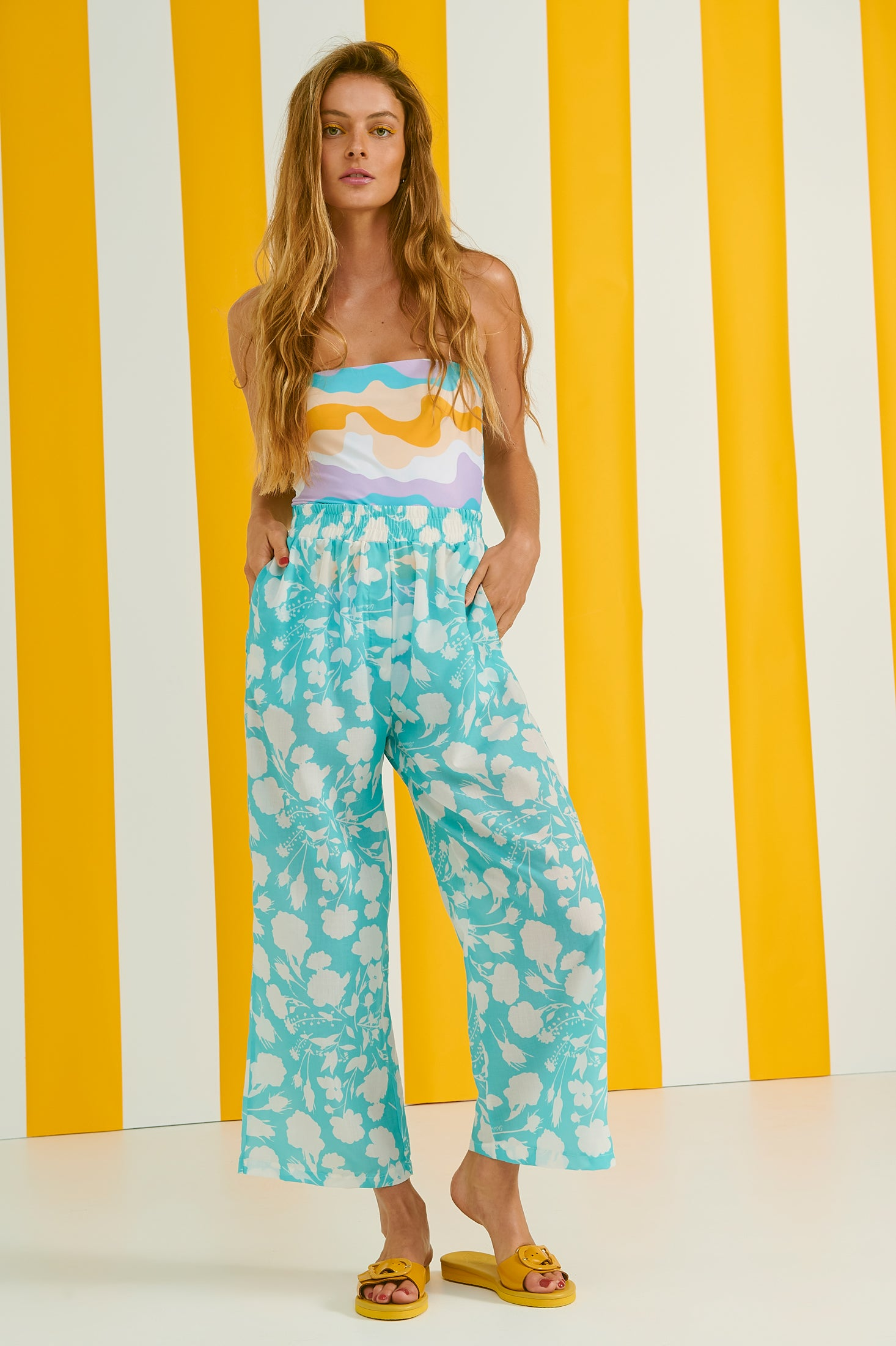 Chandler Trousers (Flowers)