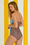 Gunther One Piece (Leopard- Turquoise Plants)