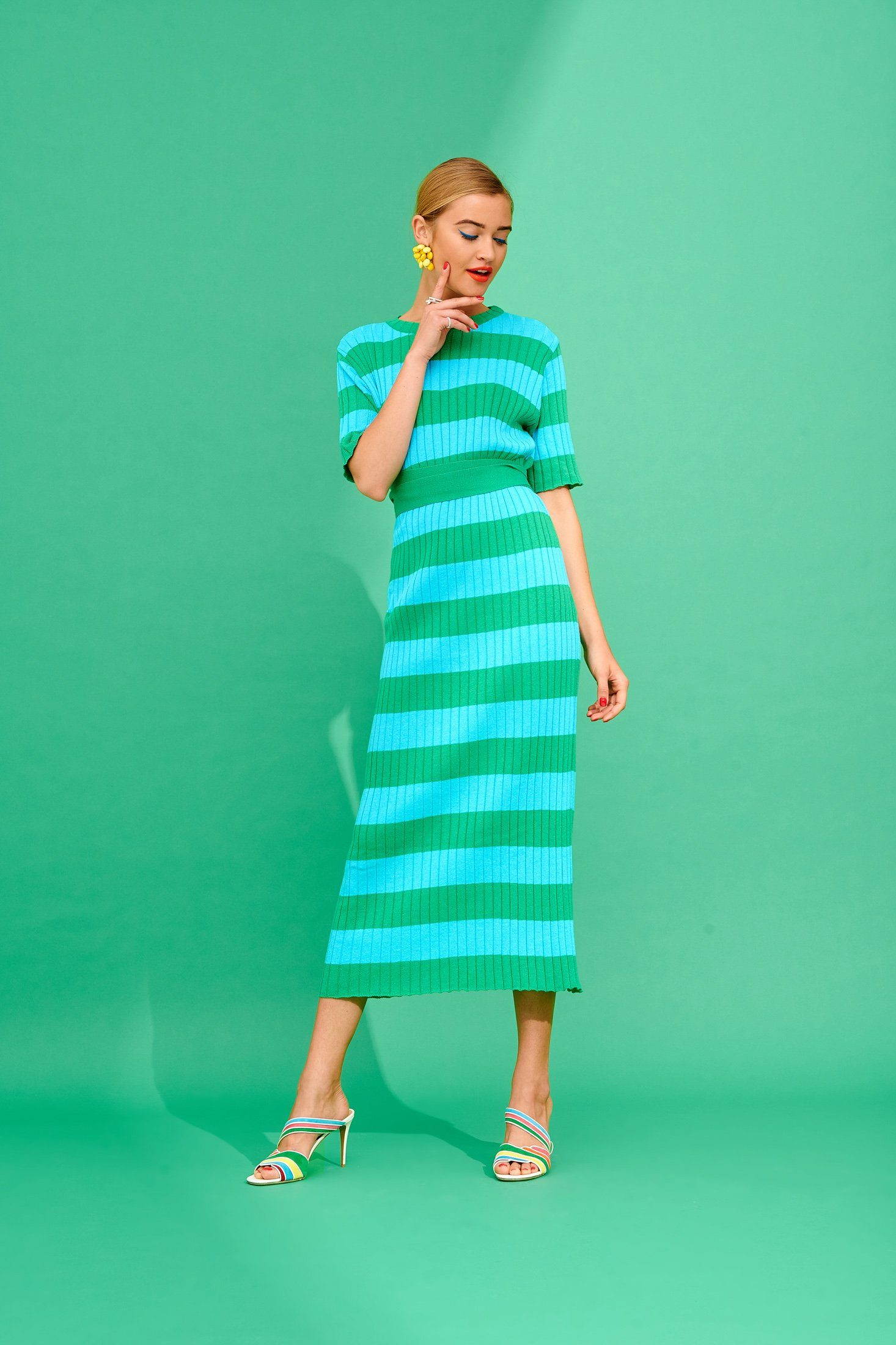Annalise Dress (Turquoise/Green) Dresses Karavan Clothing