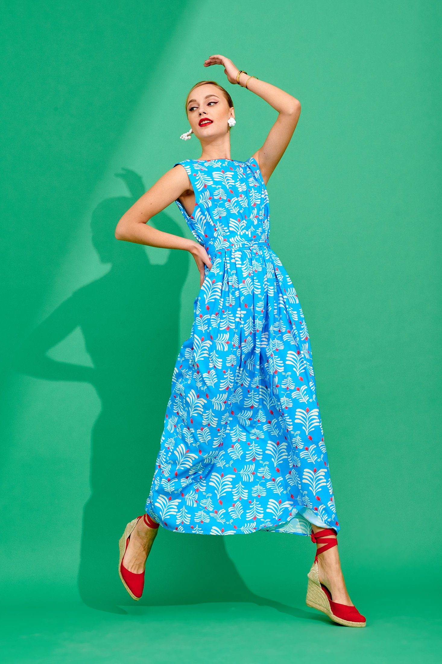 Annina Dress (Turquoise) Dresses Karavan Clothing
