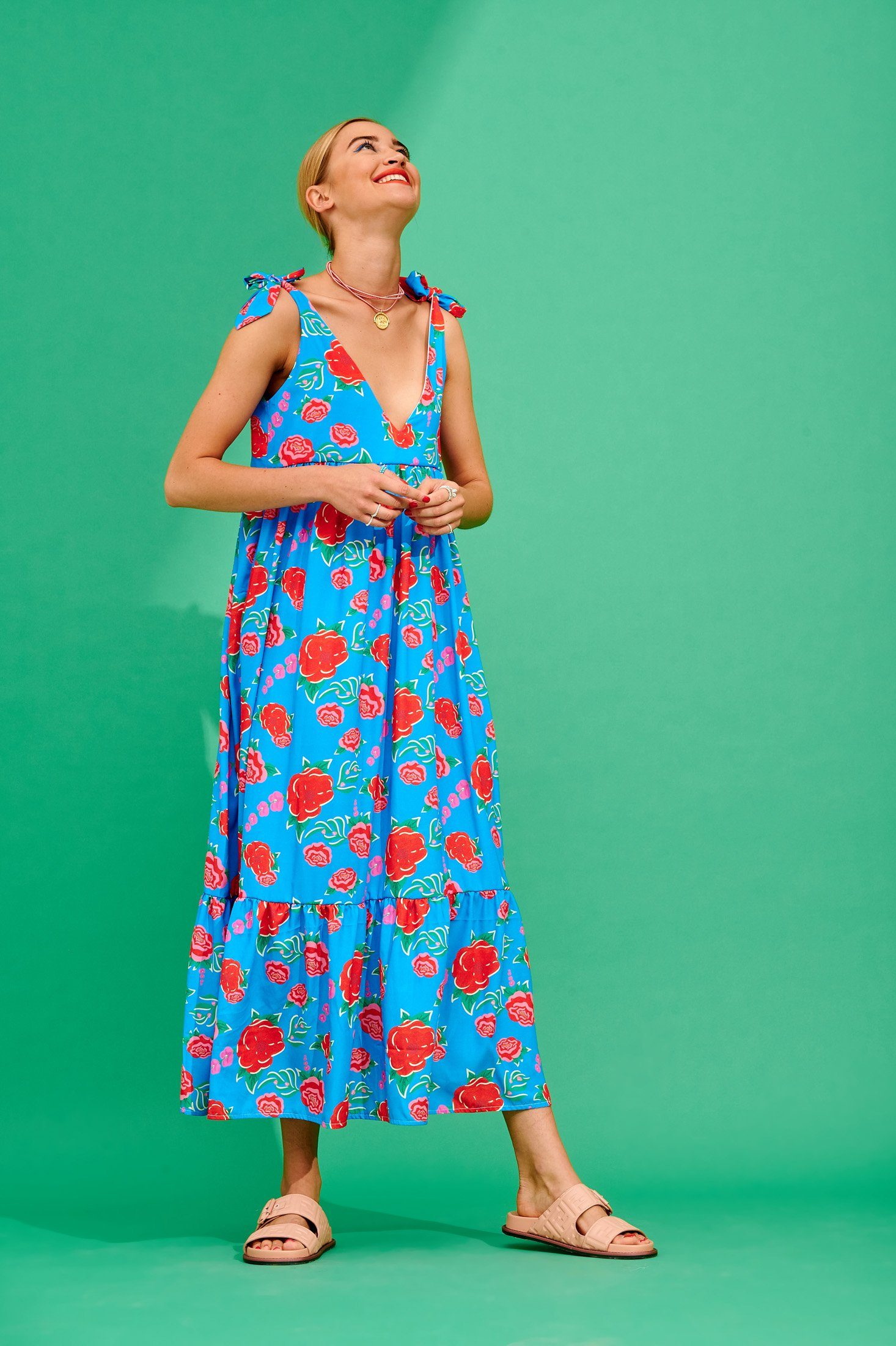 Cristel Dress (Turquoise) Dresses Karavan Clothing
