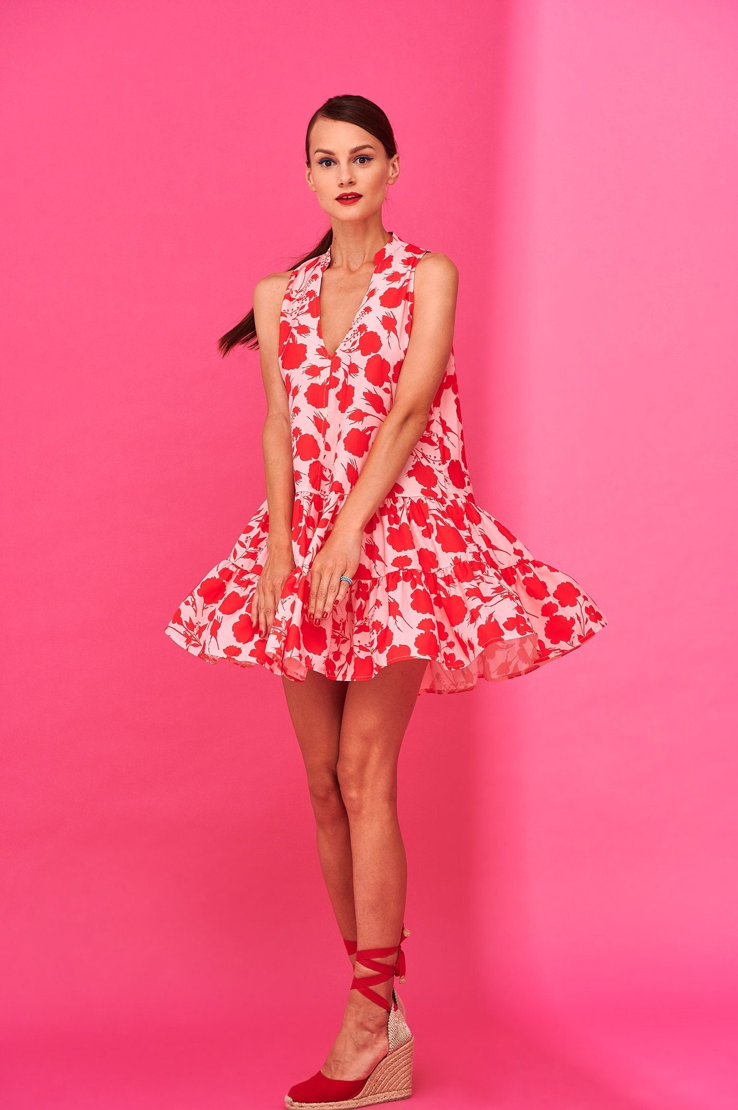 Deniz Dress (Pink) Dresses Karavan Clothing
