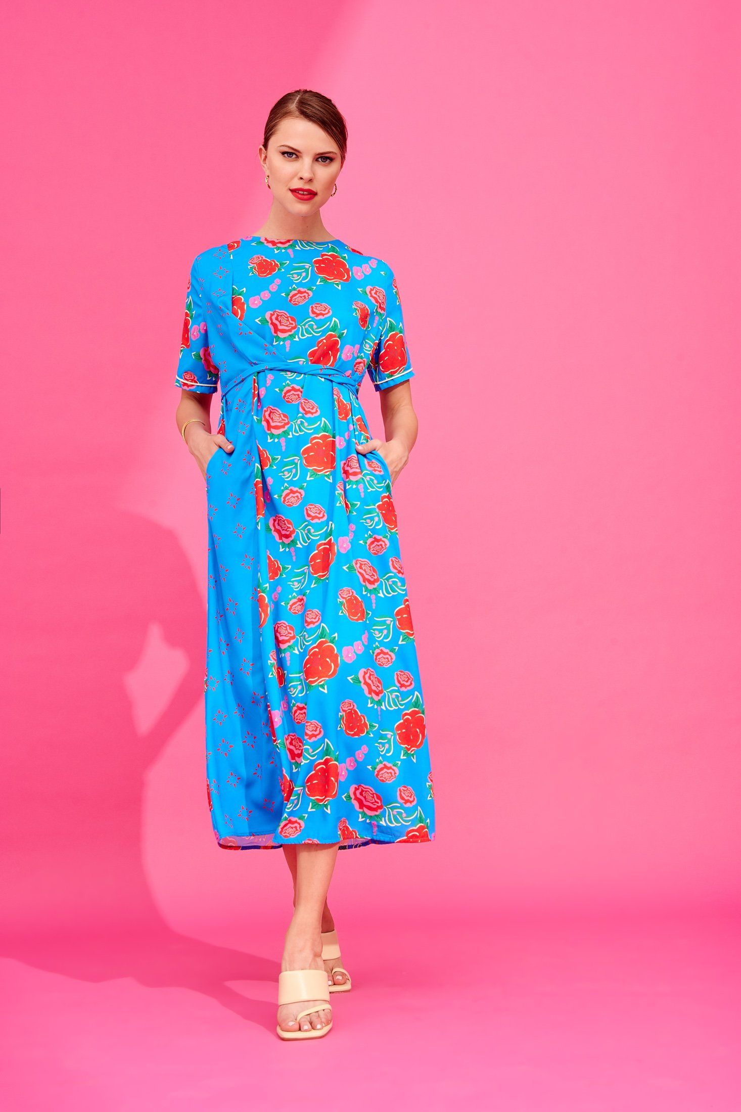Fiona Dress (Turquoise) Dresses Karavan Clothing