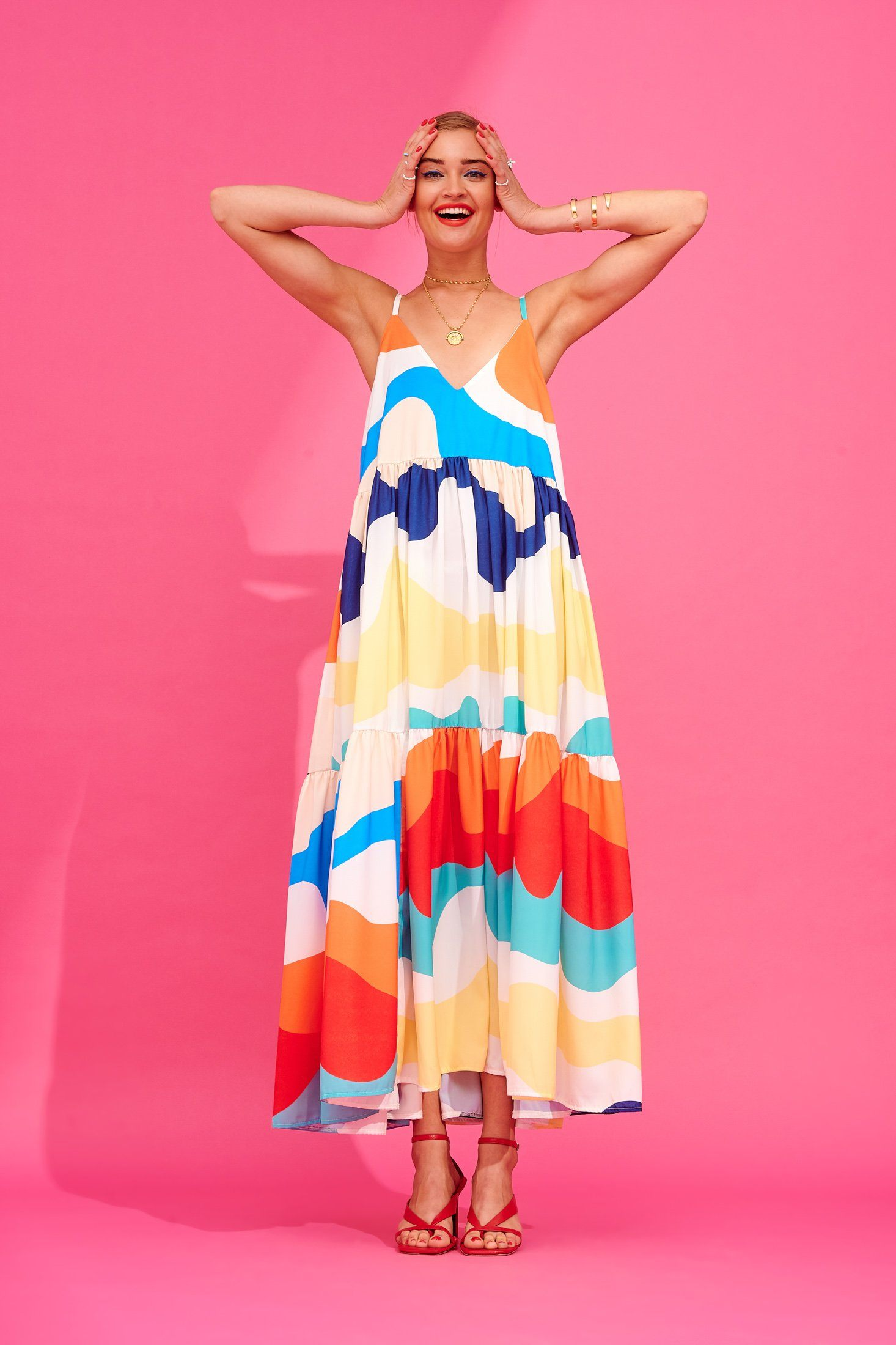 Ida Dress (Abstract) Dresses Karavan Clothing