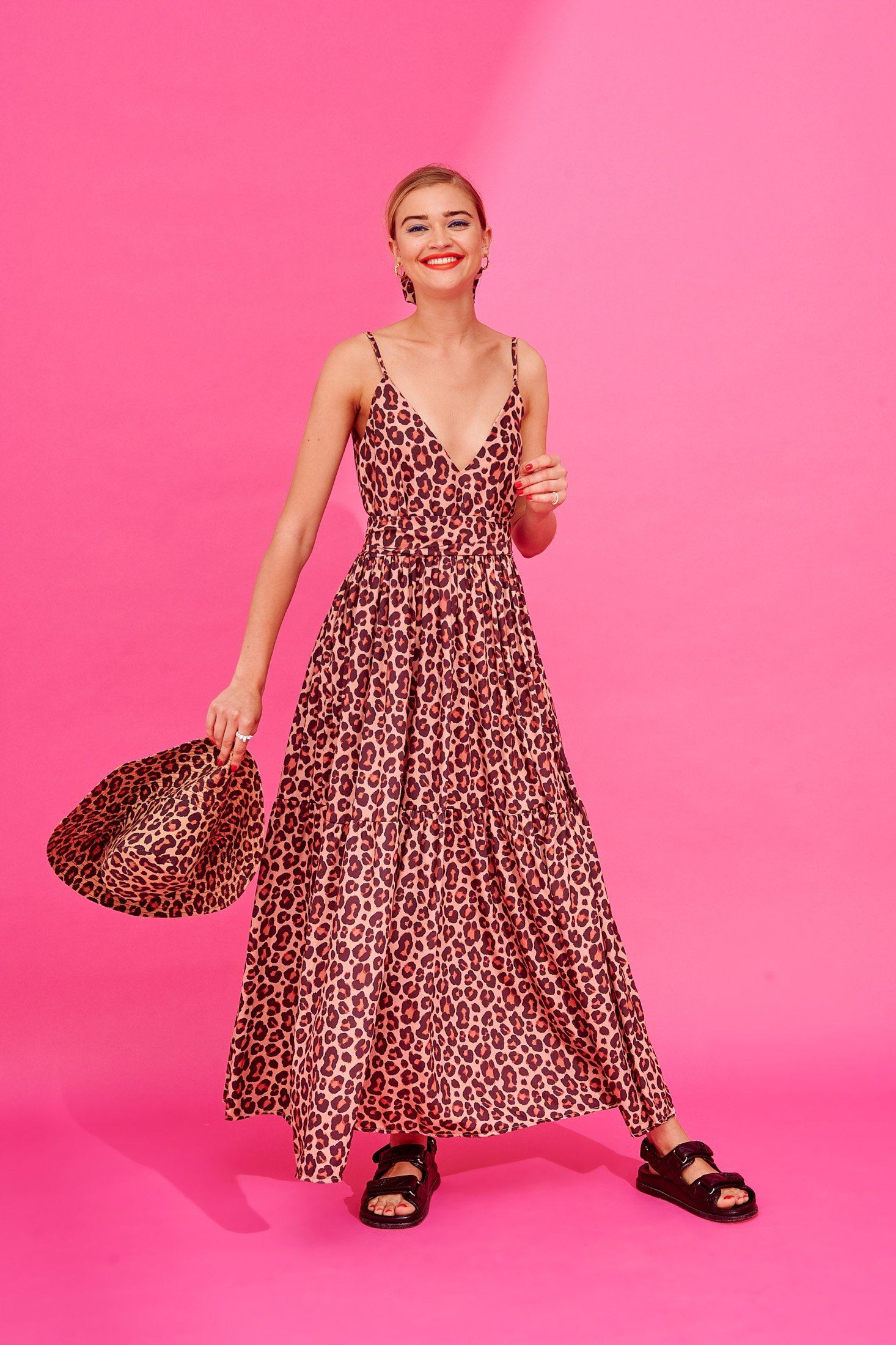 Ida Dress (Leopard) Dresses Karavan Clothing