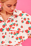 Lola Shirt (Strawberries) Tops Karavan Clothing