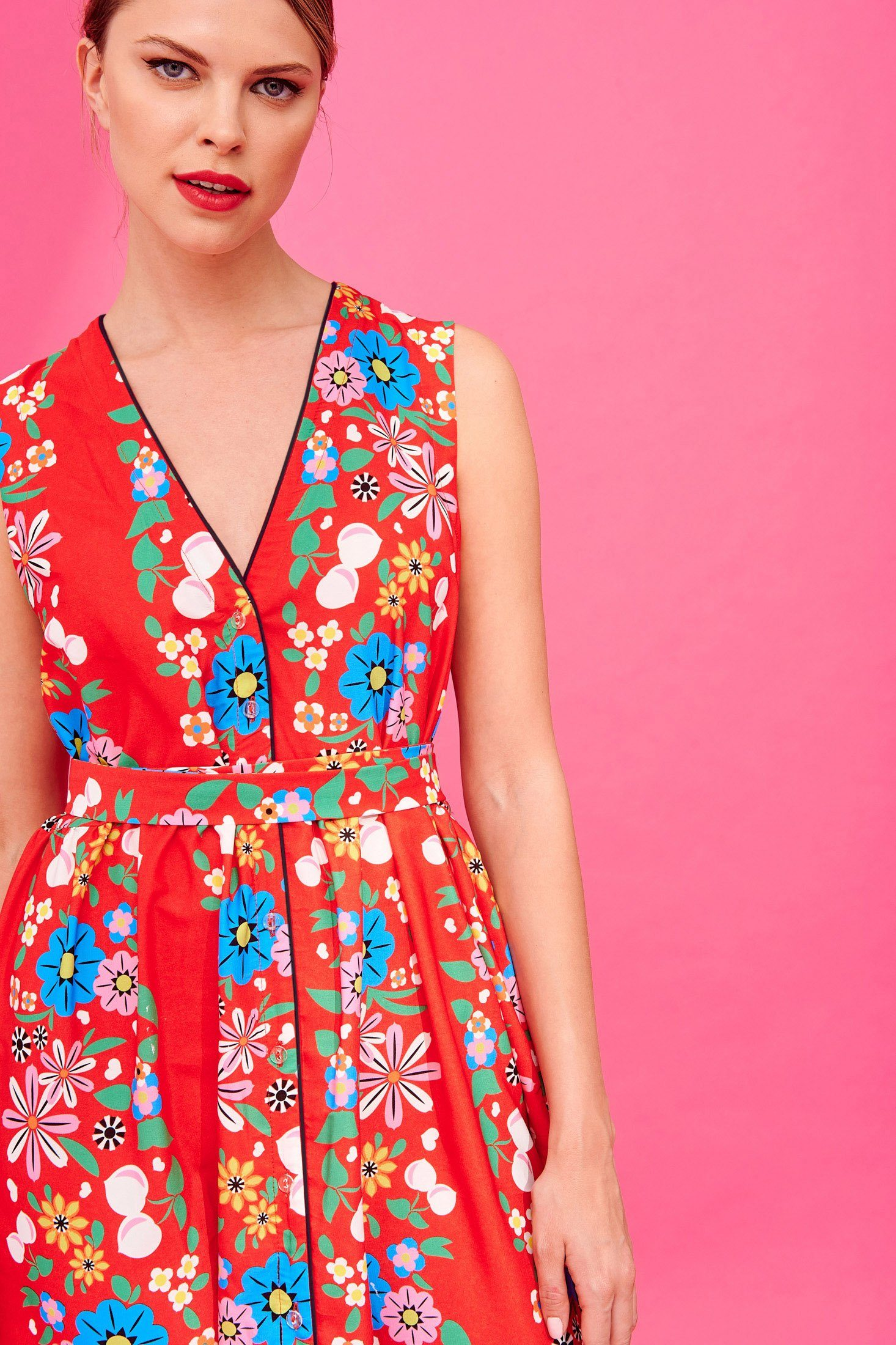 Melanie Dress (Red) Dresses Karavan Clothing