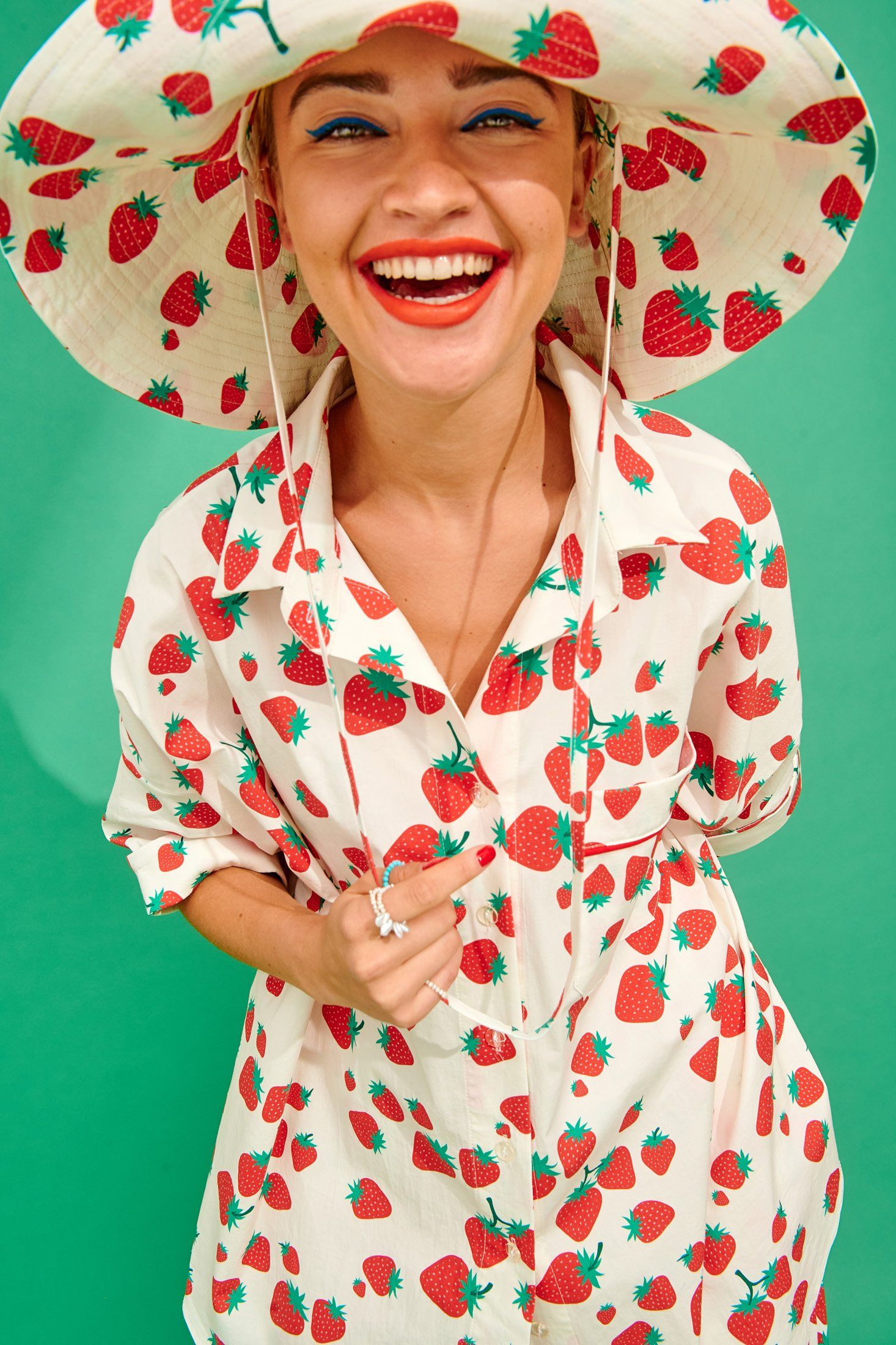 Paris Hat (Strawberries) Accessories Karavan Clothing
