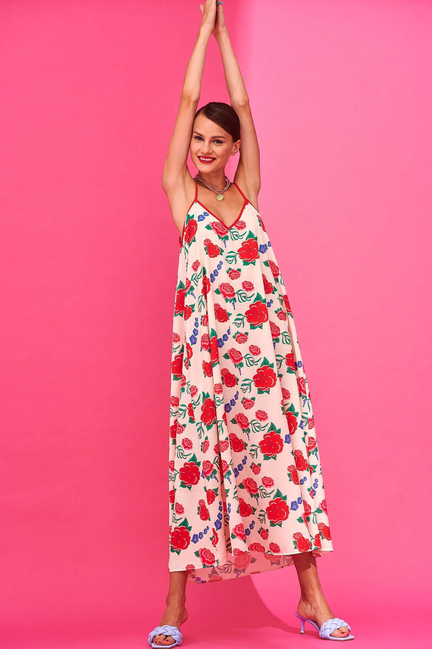 Tati Dress (Flowers Ivory) Dresses Karavan Clothing