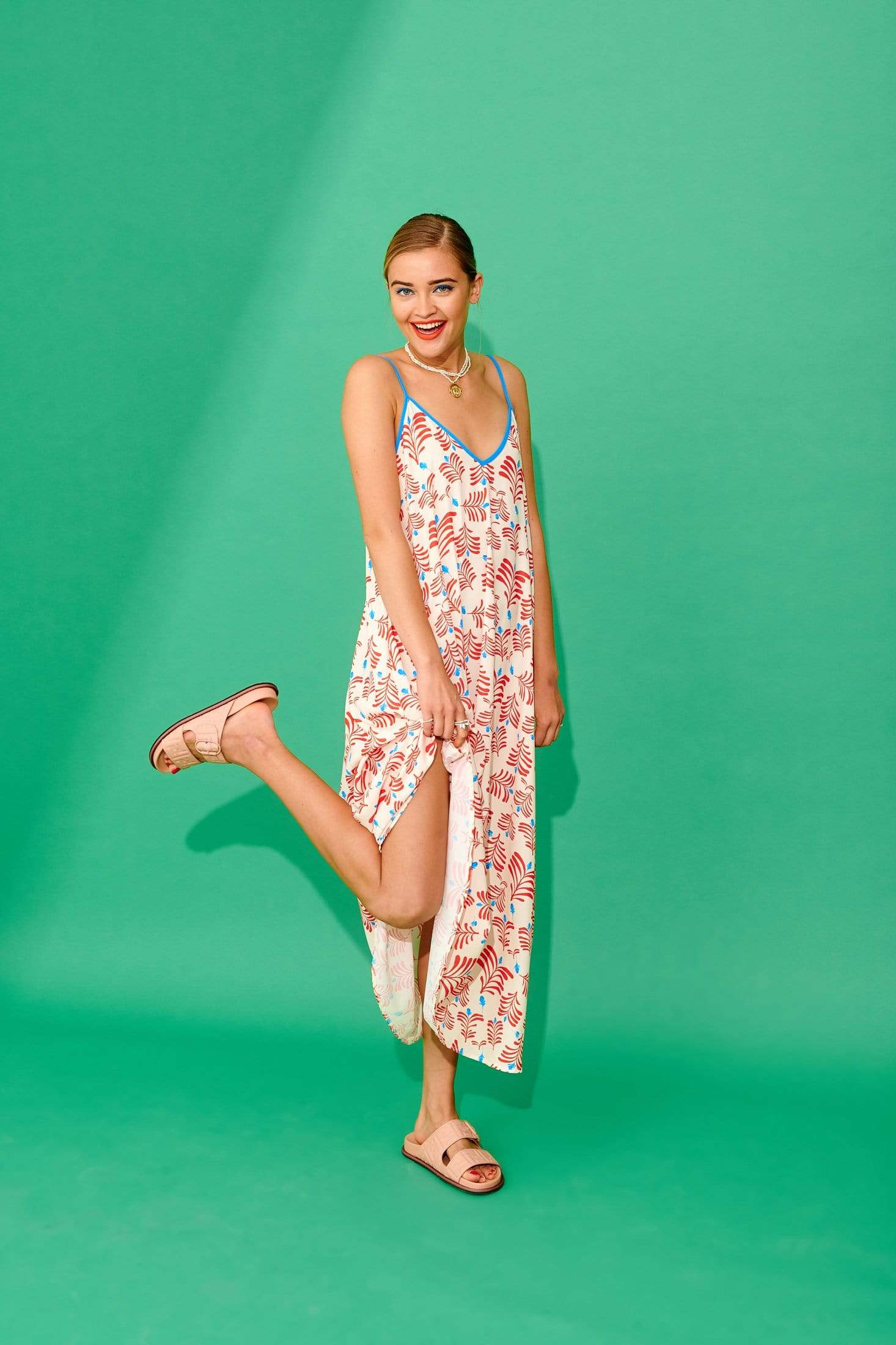 Tati Dress (Ivory) Dresses Karavan Clothing