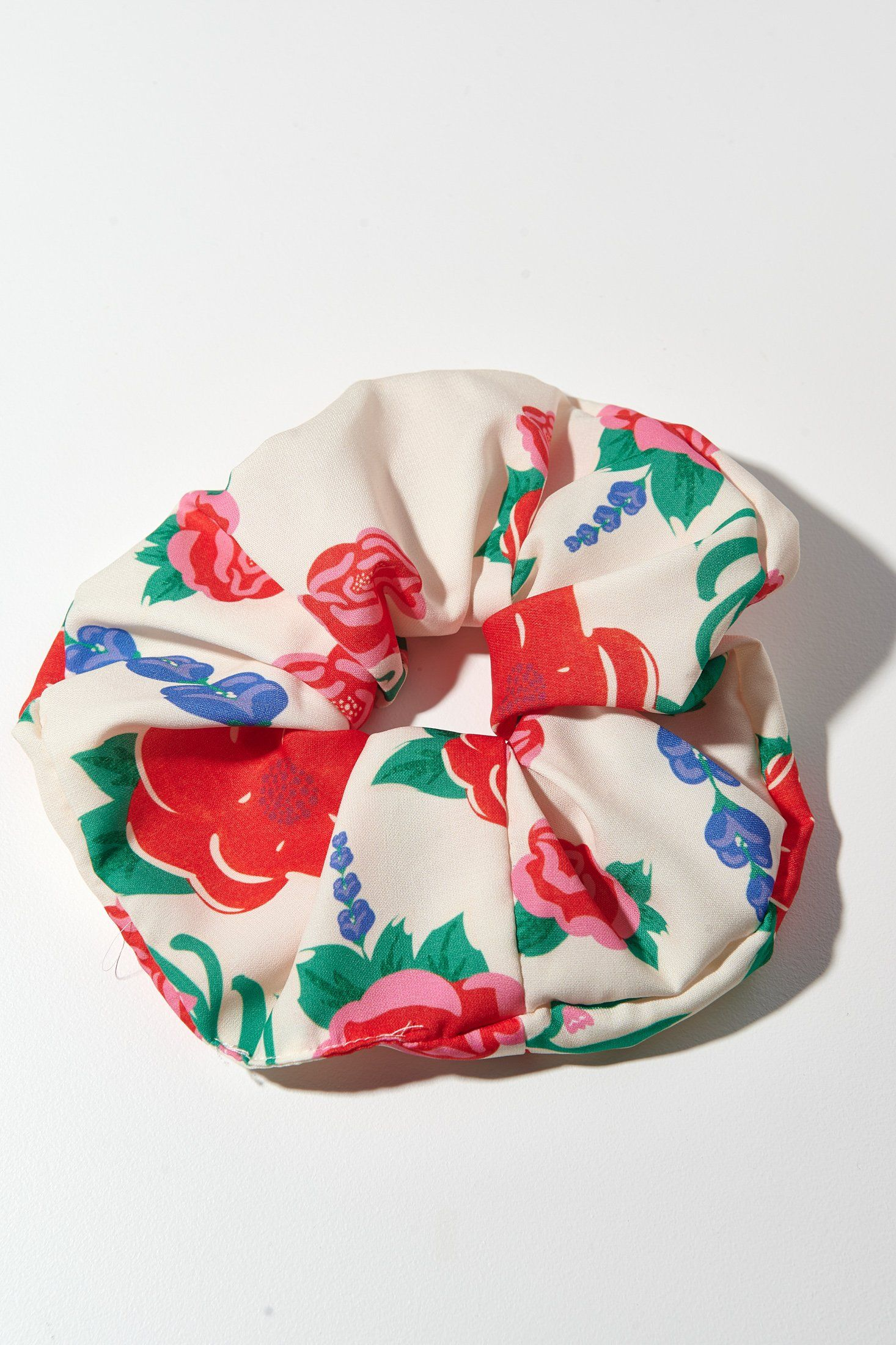 Tribe Scrunchie (Ivory Tattoo Flowers) Accessories Karavan Clothing