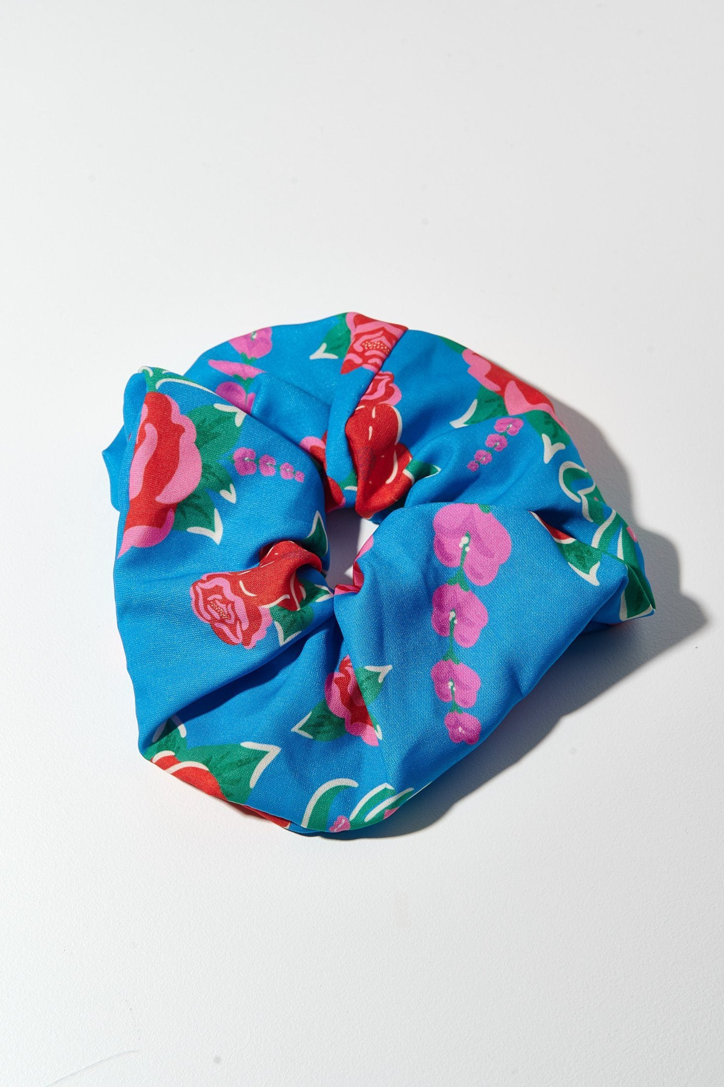 Tribe Scrunchie (Tattoo Flowers Turquoise) Accessories Karavan Clothing