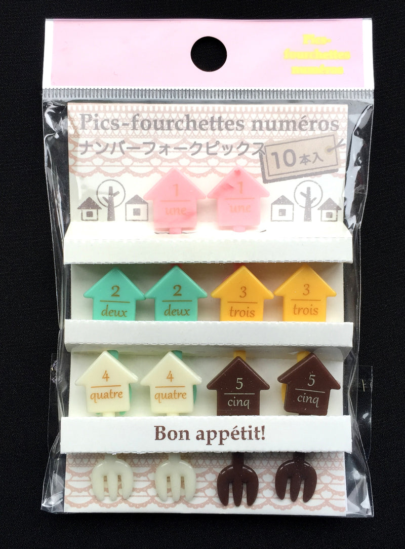 Japanese Bento Box Picks - French Numbers And Houses