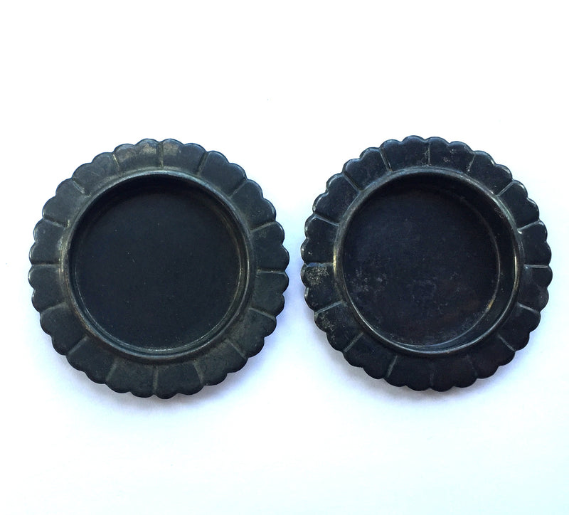 Set of 2 black Japanese door pulls