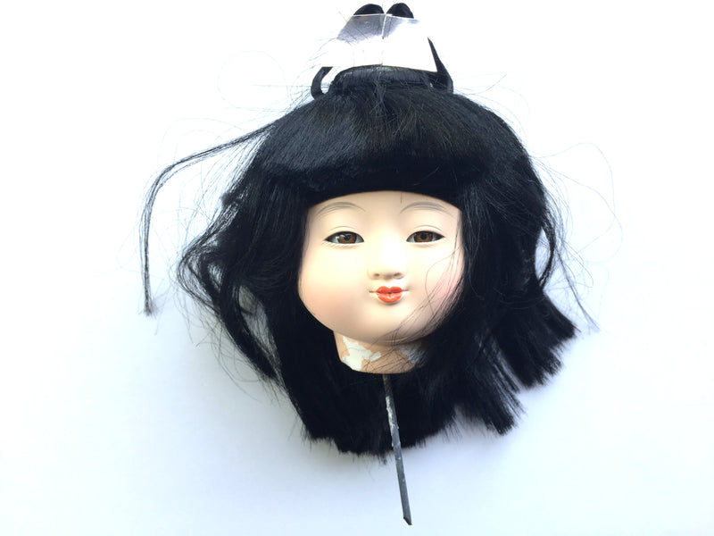 Japanese doll head - girl doll ichimatsu doll