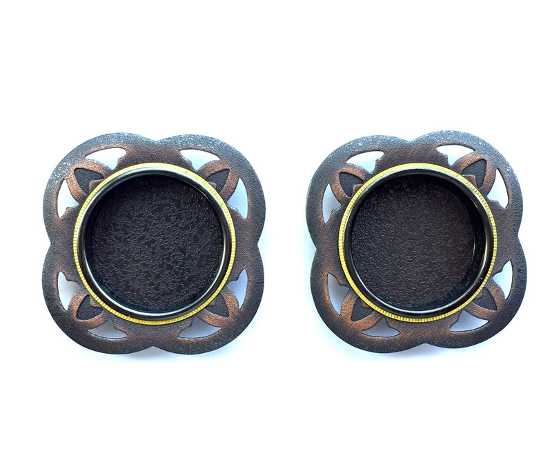 Small Japanese Door Pulls Black Gold And Bronze