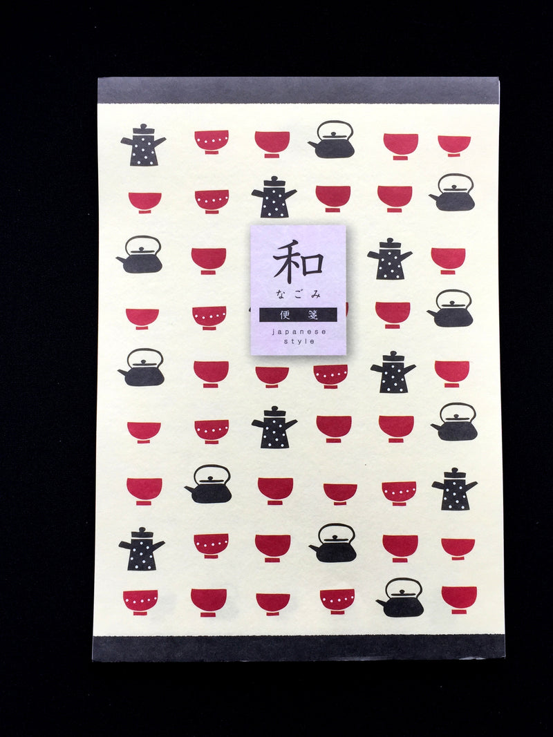 Japanese Writing Paper - Tea Cups And Teapots