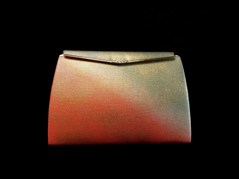 Gently Used Japanese Clutch Gold Orange
