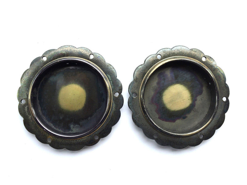 Japanese Door Pulls - Silver Gold Black Set of 2