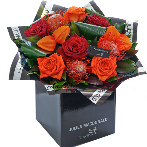 Julien Macdonald Dazzling Autumn Rose Hand tied