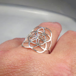 Seed of life ring, Sacred geometry flower of life ring