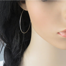 Extra large hoop earrings in sterling silver