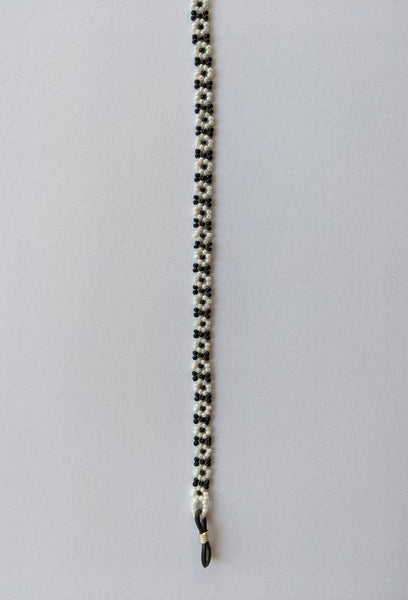 Spectacle chain - Black & White Flowers