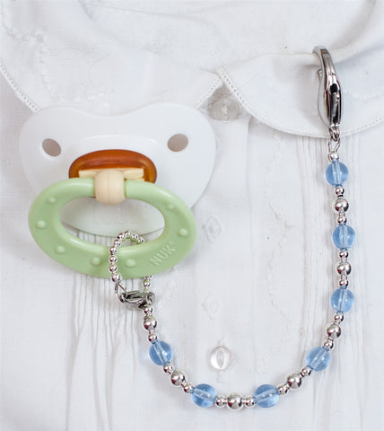 Templeton Silver Lucy Pacifier Clip