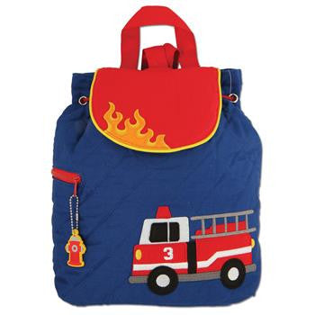 Stephen Joseph Quilted Backpack - Firetruck