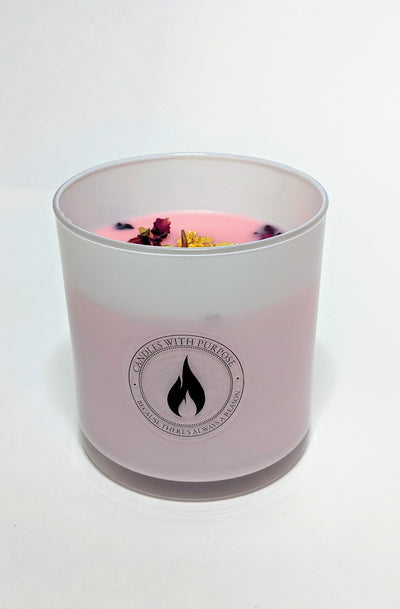 24K Rose Gold Luxury Candle - Candles With Purpose