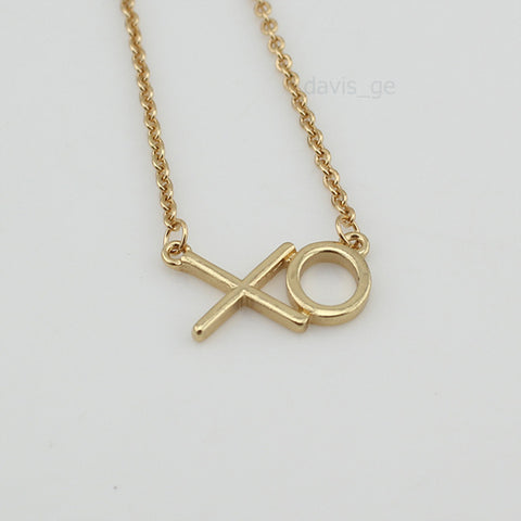Gold Silver Plated XO Necklace