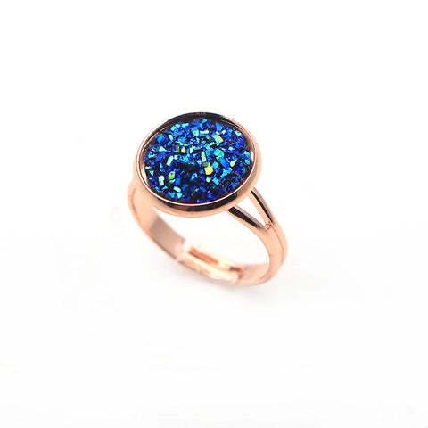 Rose Gold Druzy Rings