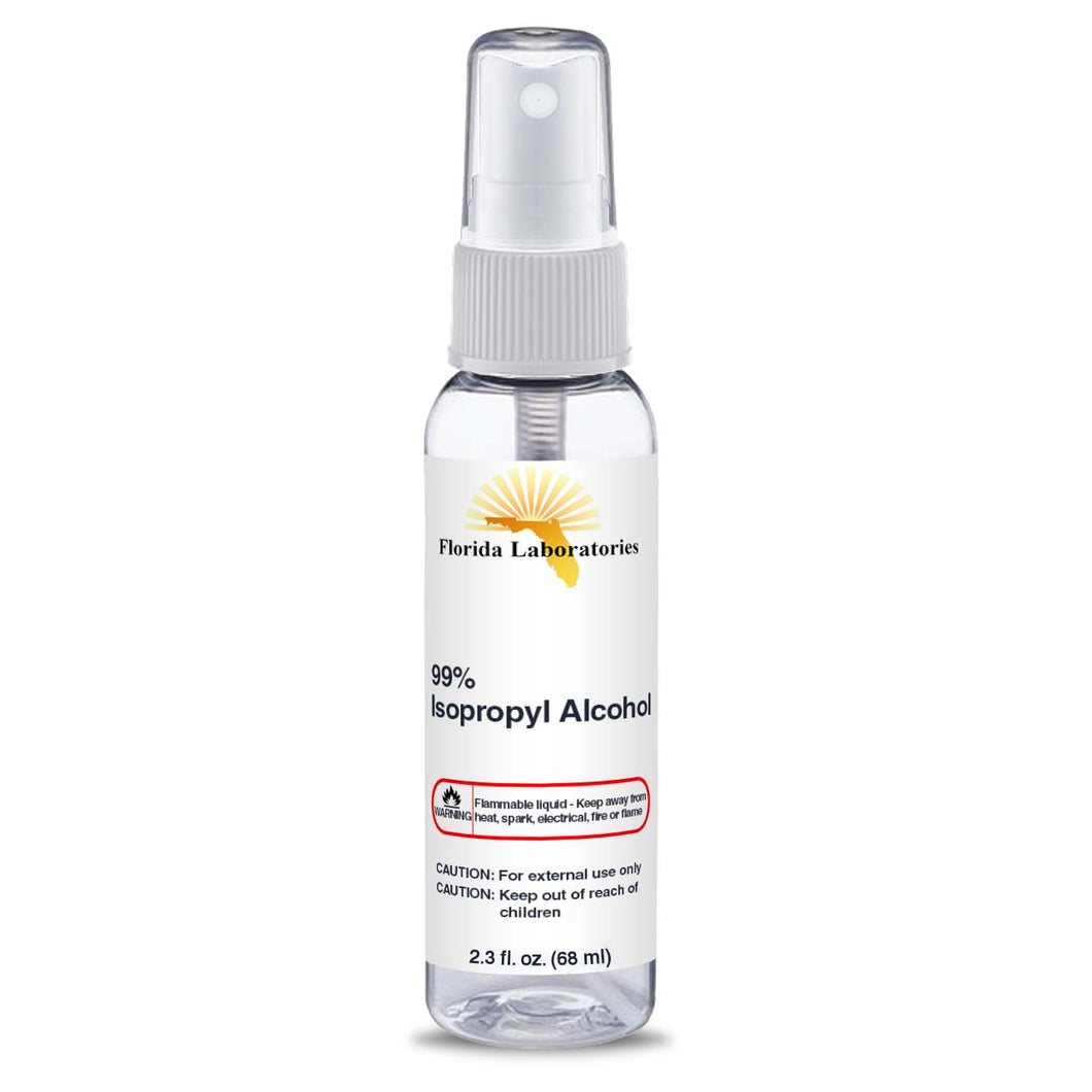 Isopropyl Alcohol 99% - 2.3 oz Spray Disinfectant Bottle - Isopropyl-Alcohol.Com