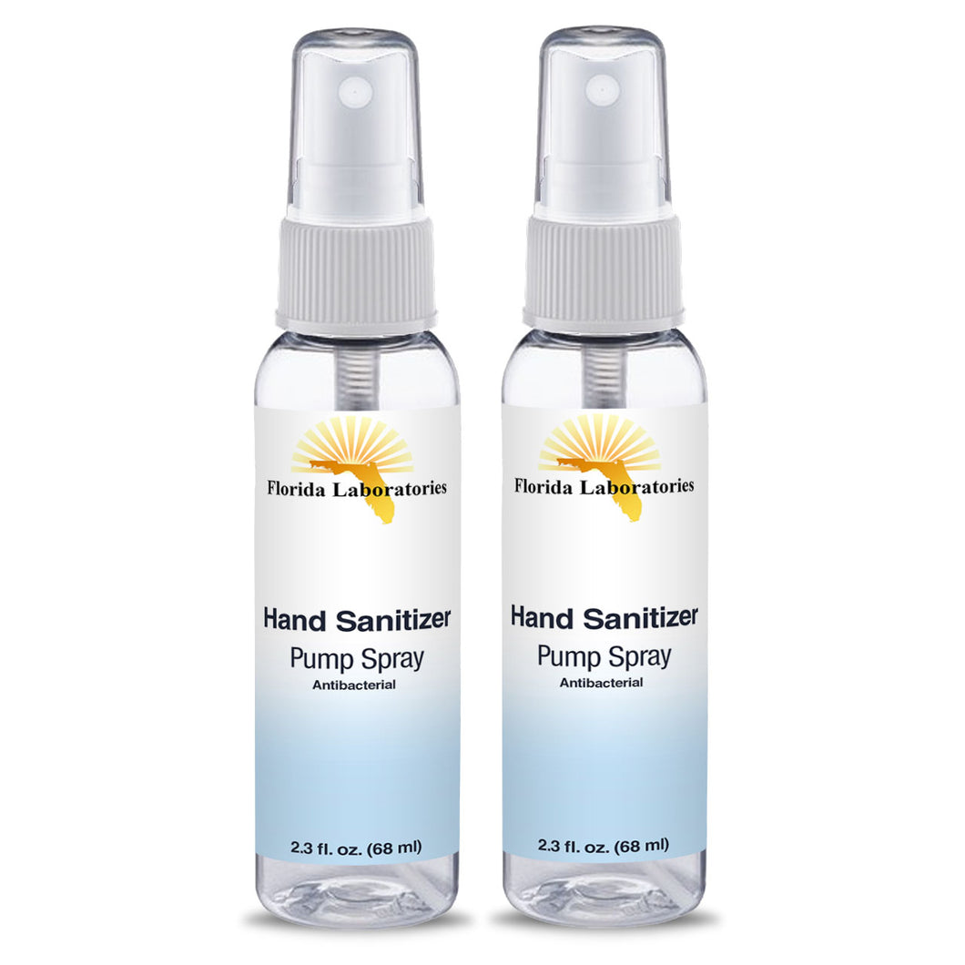 Hand Sanitizer Liquid (Non-Gel)  - (2) 2.3 oz Spray Bottle   - Always White