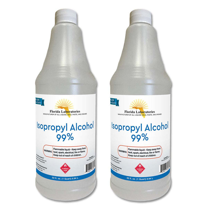 Isopropyl Alcohol 99% Anhydrous - Half Gallon - 2 Quart Bottles - Isopropyl-Alcohol.Com