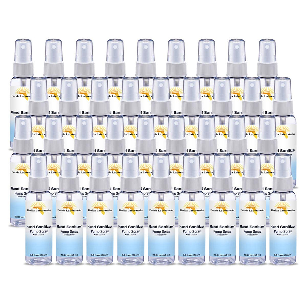 Hand Sanitizer Liquid (Non-Gel) - (36) 2.3 oz Spray Bottle - Always White