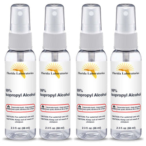Isopropyl Alcohol 99% -  (4) 2.3 oz Spray Disinfectant Bottle - Always White