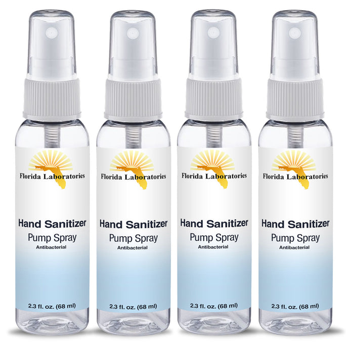 Hand Sanitizer Liquid (Non-Gel) - (4) 2.3 oz Spray Bottle   - Always White