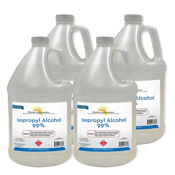 Isopropyl Alcohol 99% Anhydrous - 4 Gallons - Always White