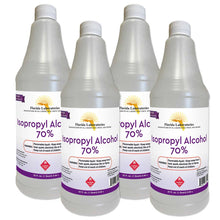 Load image into Gallery viewer, Isopropyl Alcohol 70% Anhydrous 1 Gallon - Pack of 4 Quarts - Includes ONE Sprayer - Isopropyl-Alcohol.Com