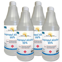Load image into Gallery viewer, Isopropyl Alcohol 99% Anhydrous - 1 Gallon, Pack of 4 Quarts - Includes ONE Sprayer - Isopropyl-Alcohol.Com