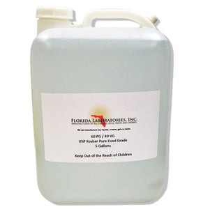 Propylene Glycol & Vegetable Glycerin 60/40 Blend, Food Grade, 60% PG 40% VG - Multiple Sizes Available - Always White