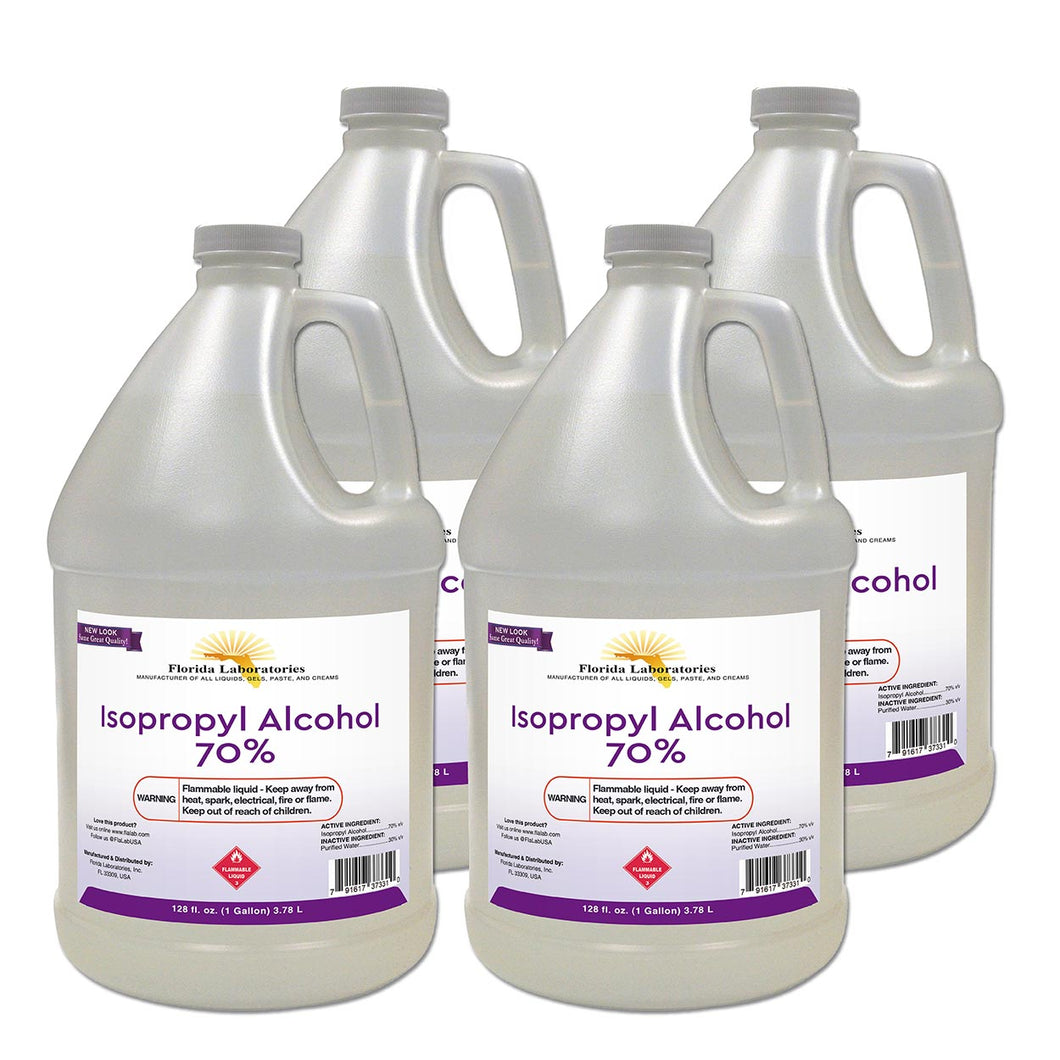 Isopropyl Alcohol 70% Anhydrous - 4 Gallons - Always White